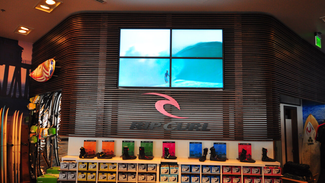 video wall digital signage at a retail store