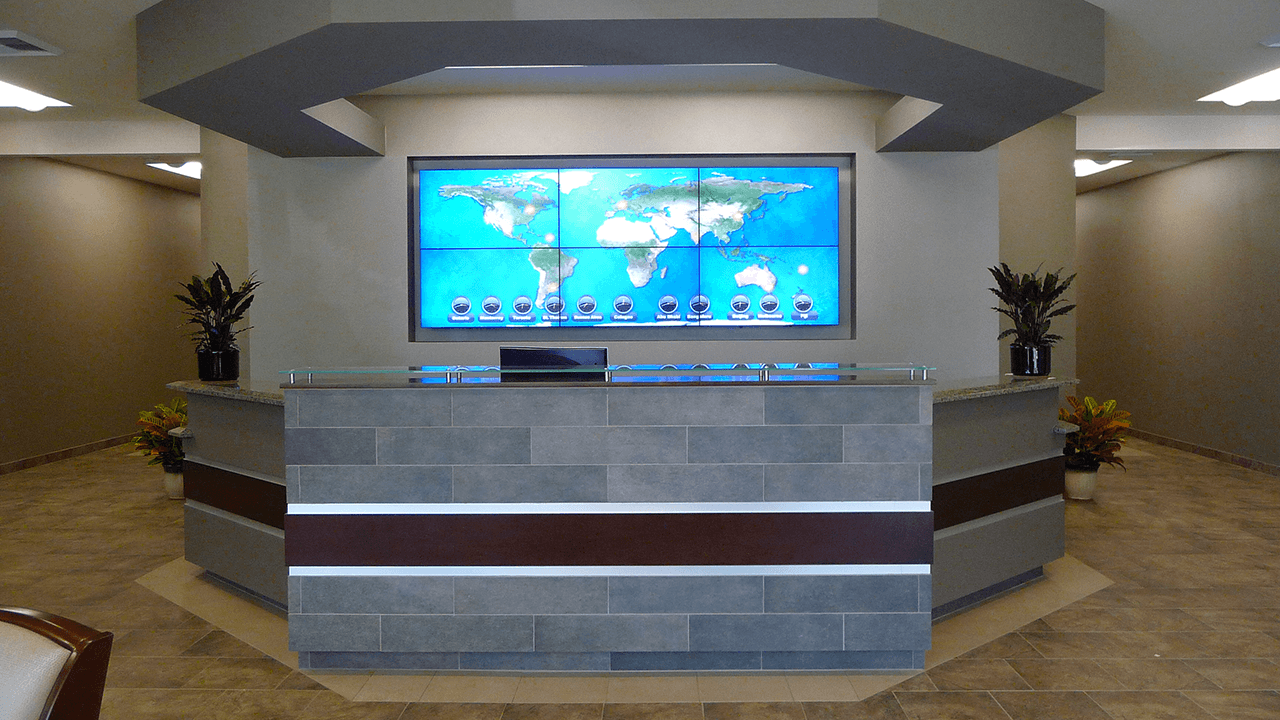 Video Wall Design Amp Installation In A Corporate Lobby